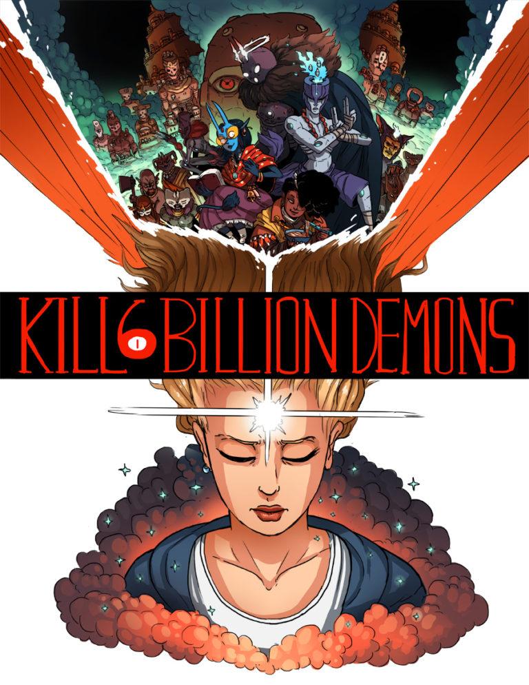 """Portada del libro """"Kill Six Billion Demons"""", de Tom Parkinson-Morgan."""