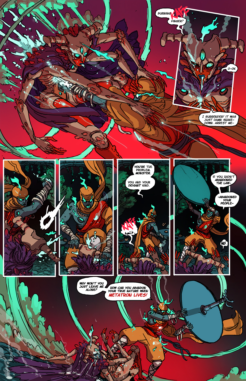The poor petal knight being beat up here is 33 Judicious Rains Sear the Unrepentant. I thought I might mention that here just in case, you know, something bad happens to her/them/it